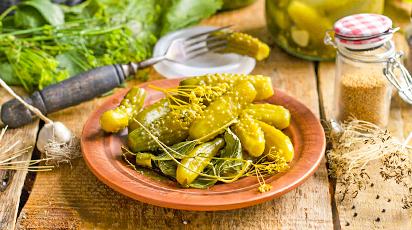 Рецепт маринованных огурцов с горчицей