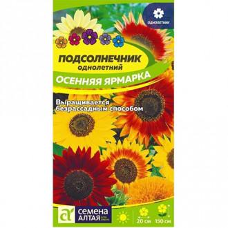 Подсолнечник Осенняя Ярмарка, смесь окрасок изображение 4